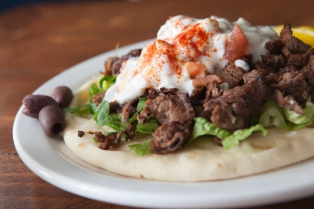 Flavorful Lamb Gyro on a Pita