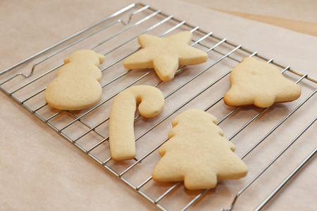undecorated: Undecorated Holiday Sugar Cookies Stock Photo