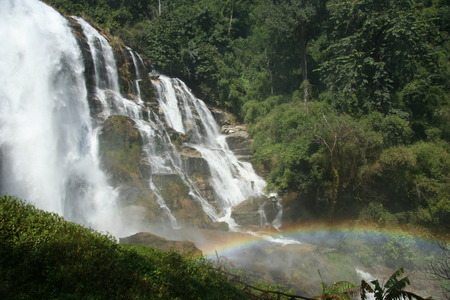 cahill: Vachibatharn waterfall with the rainbow