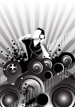 Illustration with music and dance elements illustration
