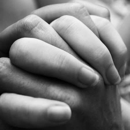 A couple holding hands close up. Stock Photo - 875807