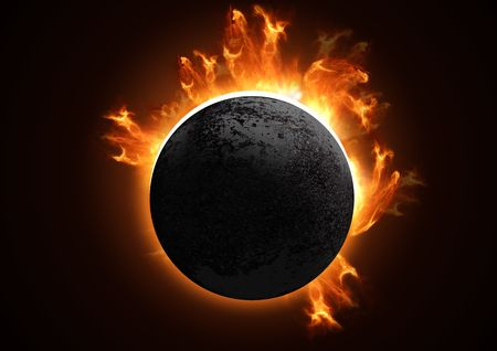 A 3D Total eclipse in detail. Stock Photo - 915765