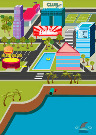 A funky virtual mini city! Stock Photo - 915776