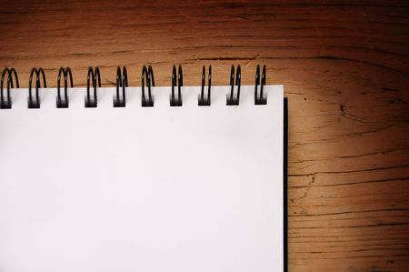 a blank writing pad on a table. Stock Photo - 969085