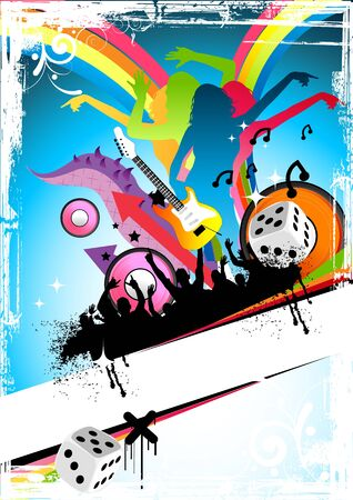 stylistic: Party and music illustration Stock Photo