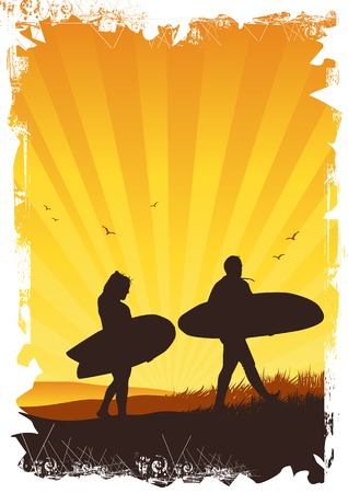 Summer Surf Background Stock Photo - 1397493