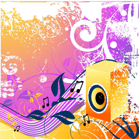 Floral and music elements photo