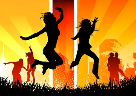 Youth concept with happy people. Stock Photo - 1489391