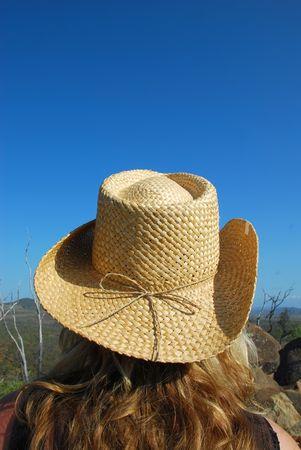 cowgirl hat: Cowgirl sombrero  Foto de archivo