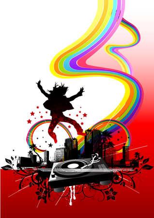 Urban City Party vector illustration illustration