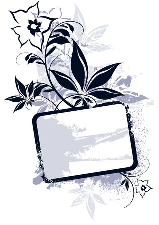 Floral Vector Frame photo