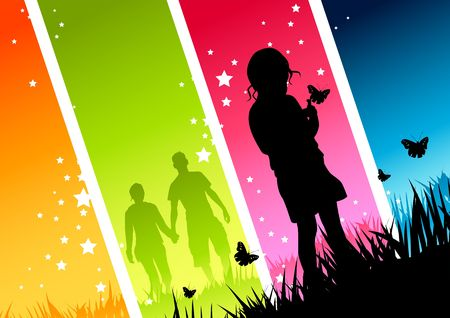 futbol infantil: Ni�o y joven pareja