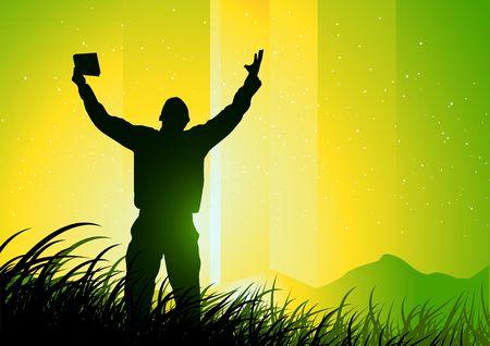 forgiven: Freedom and Spirituality Stock Photo