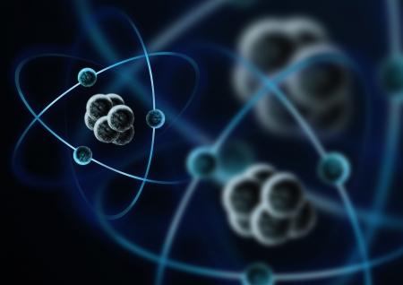 protons: Una impresi�n de un �tomo con electrones.