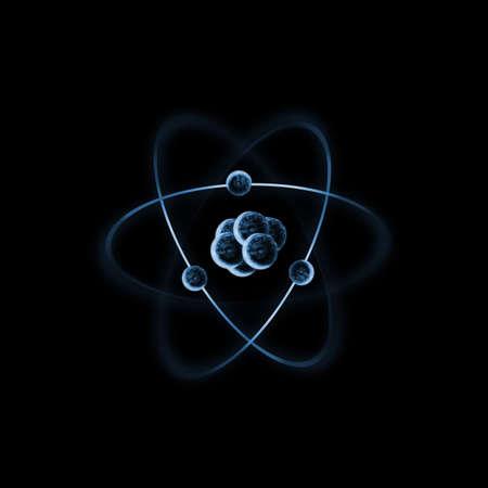 protons: Una impresi�n de un �tomo con los electrones. Foto de archivo