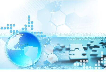 Global Connection background illustration.