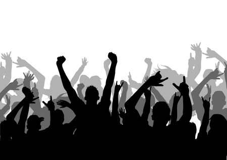 A vector silhouette of an Audience photo