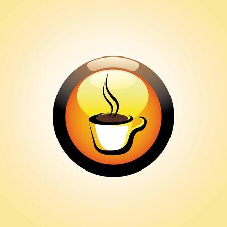 vector Coffee Cup Button Stock Photo - 2835658