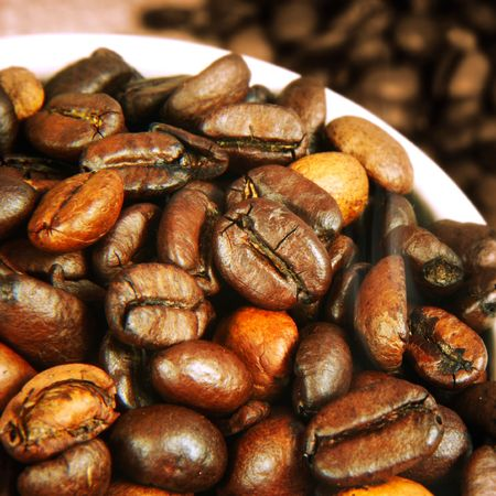 Fresh Roasted Coffee Beans Stock Photo - 2835705