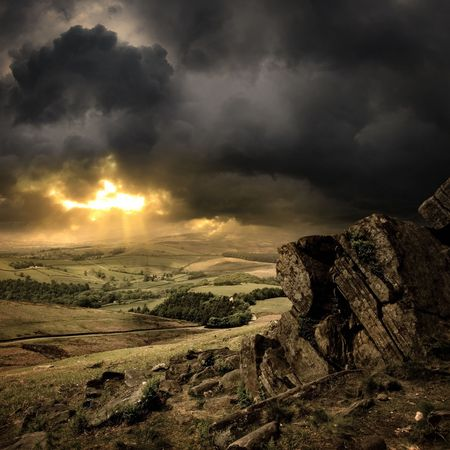 A view of the Peak District, England. Stock Photo - 3461897