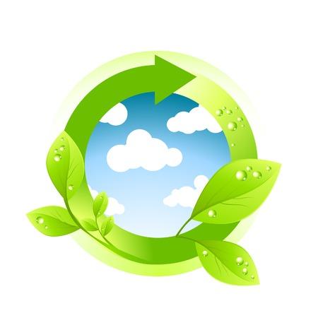 enviroment: Green Enviroment Element. Vector illustration.