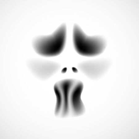 ghost face: Ghost viso. Vector illustration