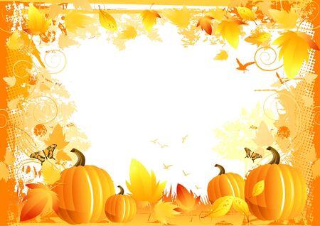 Autumn Border Elements - vector illustration. Stock Illustration - 3801854