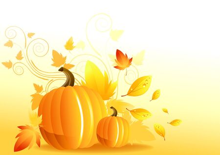 Autumn Pumpkin Elements - vector illustration. illustration