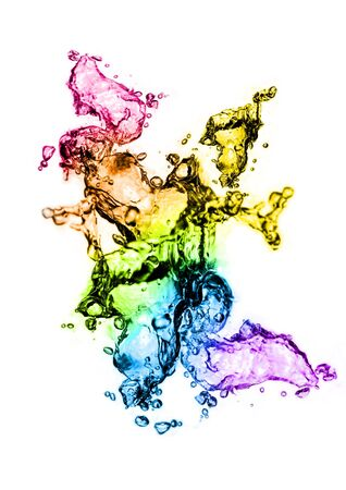 fluidity: Water splashes in technicolour!