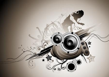 Raw beats... Musical vector elements. Vector