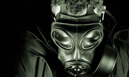 UK military  Anti terrorism gas mask. Stock Photo
