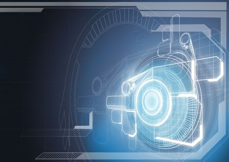 Technology background. Stock Photo