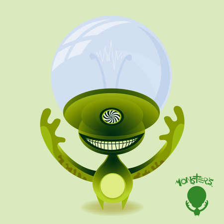 starve: Hypnotic green power hungry alien. Beware!