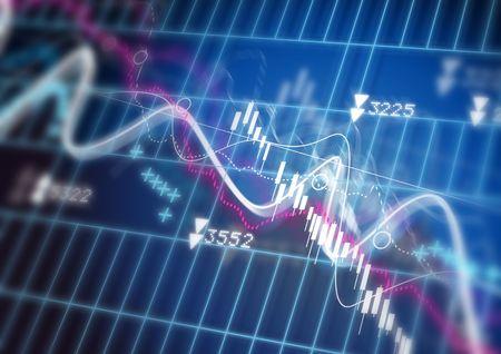 credit risk: Stock Market Diagram Stock Photo