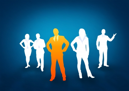 A group of young professionals. Stock Vector - 5504339