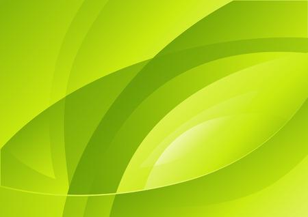 wave backdrop: Abstract curves of green light. Vector illustration Illustration