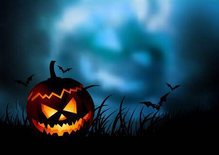 fondo luminoso: Una ilustraci�n del tema de halloween ...