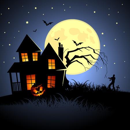 haunted house: Haunted Halloween House! Vector illustration. Illustration