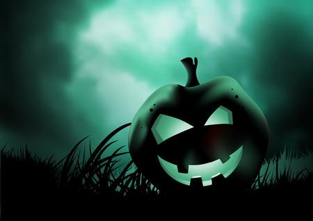 A scary pumpkin for halloween. Vector illustration Stock Vector - 5606399