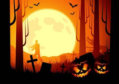Halloween themed background. Vector illustration illustration