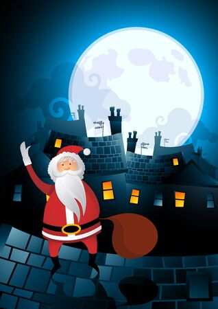 Santa roof hopping on christmas eve...Merrry Christmas! photo