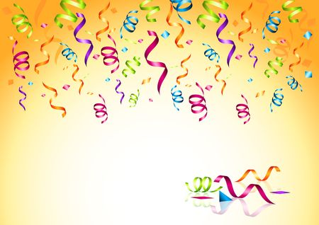Celebrations! Streaming party confetti. Vector illustration. Stock Photo