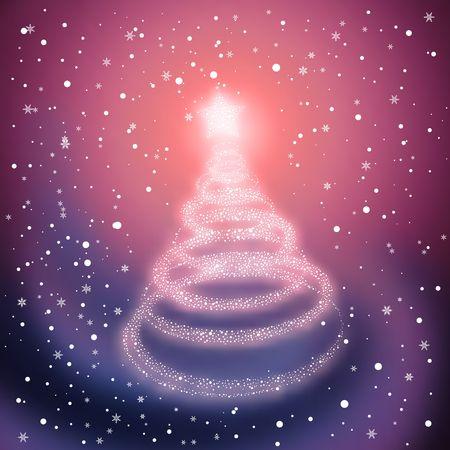 Winter Christmas Tree. Vector illustration. illustration
