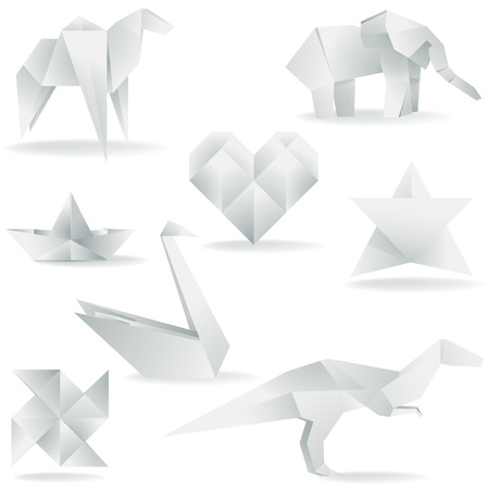 A collection of origami elements  Stock Vector - 6506590
