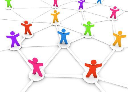 networking people: Un grupo de conectados, redes de personas.