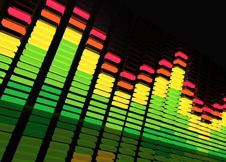Music background featuring a equalizer. photo