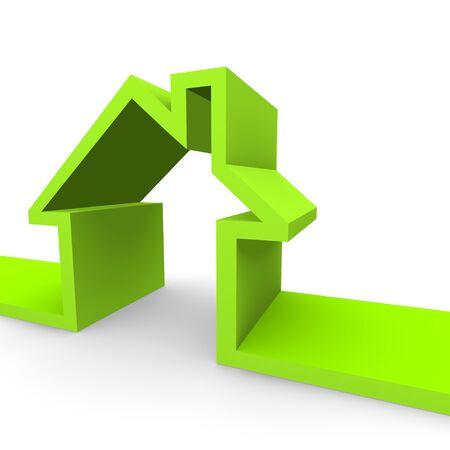 A green coloured house concept. Stock Photo - 7032814