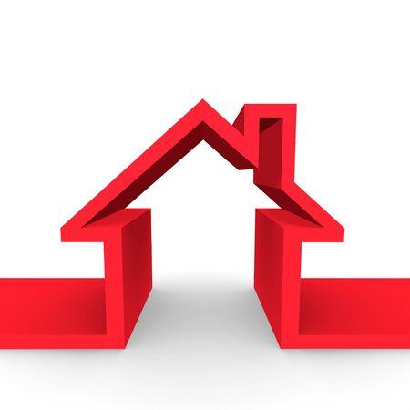 rental house: Un esbozo de un hogar familiar.