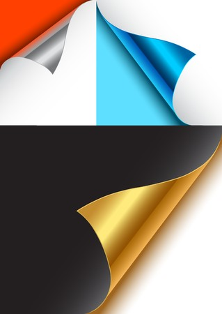 döndürme: A collection of page curls for designs.
