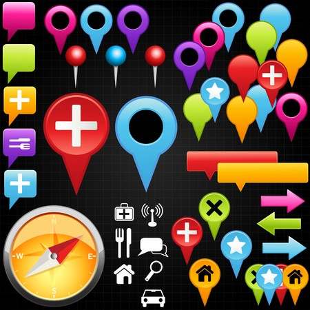 A collection of map pointer. Vector